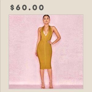 Dresses & Skirts - Deep v-cut bandage dress !